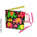 Album doudou photo personnalisable éléphant multicolor
