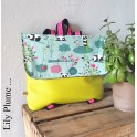 Cartable maternelle rose panda